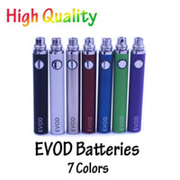 Wholesale EVOD Battery Electronic Cigarette Battery EVOD Battery mAh mAh mAh EVOD Battery Colors for E Cigarette e Cig Starter Kits TOWOTO