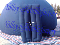 Wholesale Professional different size blue inflatable planetarium dome tent with door high quality