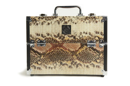 Wholesale Makeup Case The Body Shop High Grade Python Pattern Aluminum Cosmetic Case Make up Tool Case With Multifunction Space
