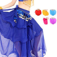 belly dancing fancy dress - S5Q Fancy Dancing Costume Three Layers Chiffon Belly Dance Skirt Dress Dancewear AAAAMZ
