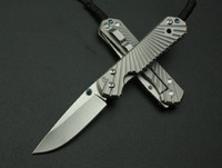 Wholesale Chris Reeve D2 Blade Sebenza Style Full TC4 TITANIUM Handle Folding knife DF01