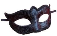 PVC masquerade masks - Women Girls Sexy Black Lace Edge Venetian Masquerade Hallowmas mask masquerade masks with Shining Glitter mask dance party mask