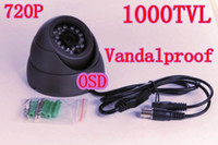 Wholesale WHOLESALES TVL quot SONY Megapixe Sensor P Vandalproof IR Dome Camera OSD IR CUT DNR Digital Zoom FREESHIPPING