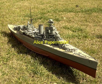 Wholesale Alice papermodel Long meter World War II the British battleship HMS Hood military boat models