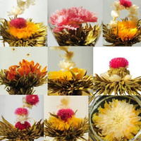 Wholesale Hot sale Kinds artistic blooming flower tea Romance in cup blossom kinds blooming tea ball China scented tea art different suprise