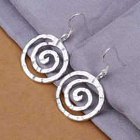 Wholesale Hot Sell silver earring silver fashion jewelry Earrings Round thread Earring SMTE353