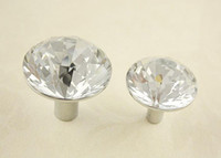 Cheap Wholesale - 10Pcs K9 Clear Crystal Glass Cabinet Pulls Drawer Knobs and Handle(Diameter:31)