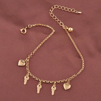 Wholesale Fashion K Anklet Bracelet With Heart Shaped For Lead and Nickel Free