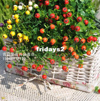 Wholesale Manufacturers Simulation fruit fork red plastic berry fruit artificial flowers flower plant simulation table