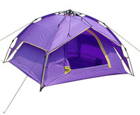 Wholesale 2012 High Quality Camping Tent Person Double Layer Family Heavy Rain proof Automatic Tent