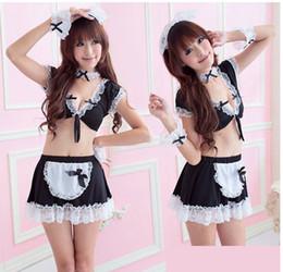 Large size women sexy lingerie sexy maid dress uniform temptation transparent pajama suit maid outfit