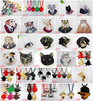 Wholesale 314 Mix Style New Fashion Good Wood Beads Necklace Hip Hop Jewelry Pendant Animal Necklaces