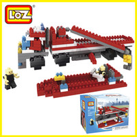 Cheap 1 SET The fire truck toys For Boys Lovely Loz puzzle Child 3d Puzzle Building blocks diamond gruond toy