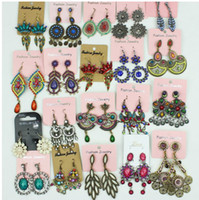 Wholesale Fashion women big earrings vintage dangle chandelier pendants earring stud charm jewelry colorful
