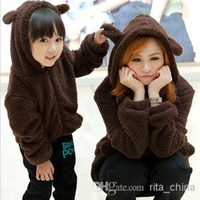 Girl autumn ale - Hot ale New lt Family Fitted gt Women And Big Girl Thick Cartoon Bear Hoodies