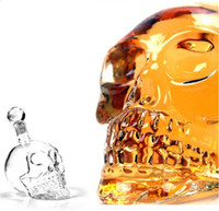 Wholesale High Quality ml Crystal Head Vodka Skull Bottle ml With Retail Package