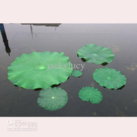 Wholesale 10CM Green Artificial Plastic Lotus Flower Leaf for Villa Garden Pond Decoration Home Fish Tank Decoration