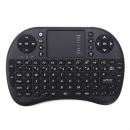 Wholesale DHL Free Rii Mini i8 Fly Air Mouse WIFI Wireless AirMouse Keyboard Touchpad Remote Control Flymouse For Andriod TV BOX MINI PC MXQ S905