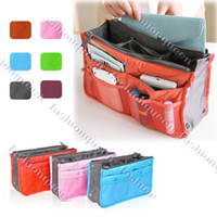 Wholesale New Women Travel bag Organizer Purse Large liner Tidy Bags Pouch Practical Use Colors