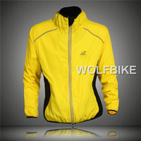 Wholesale Tour de France Cycling Coat Mens Winter Windproof Road Bike Cycle Clothing Long Sleeve Jersey Wind Rain Waterproof Jacket Orange