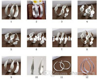 Wholesale styles to choose freely mixed style silver Ear hoop Top Quality earrings sterling silver jewelry factory price Fashion