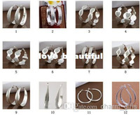 Hoop & Huggie Silver South American Wholesale - 12 styles to choose freely mixed style 925 silver Ear hoop Top Quality earrings sterling silver jewelry factory price Fashion