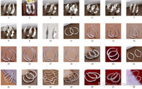 Hoop & Huggie   Wholesale - Fashion (Jewelry Manufacturer) 30 style mixed 30pairs lot 925 sterling silver Ear hoop earrings fashion gifts free shipping