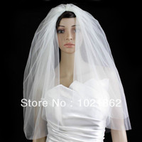 affordable bridal veils - Custom Made Bridal Wedding Veil Diamond Off White Elbow Length Cut Edge Plain Affordable New AL0204