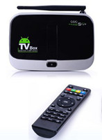 Wholesale free shippping Newest CS918S Quad Core tv box GB GB Android with remote control Built in MP Camera Bluetooth