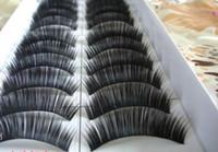 Wholesale Eye Lashes False Eyelash Thick Black Eyelashes pairs boxes