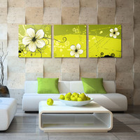 More Panel Printed Oil Painting  Fashion 3 Pieces Free Shipping Modern Wall Oil Painting Abstract Flower Living Room Wall Art Picture Paint on Canvas Prints YX-441