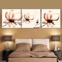 More Panel Printed Oil Painting  Fashion 3 Piece Free Shipping Hot Sell Modern Wall Painting Colorful Flower Home Decorative Art Picture Paint On Canvas Prints YX-618