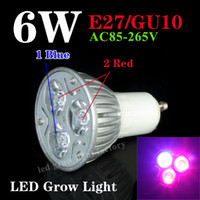 Wholesale DHL Free Cheaper LED Grow Lights GU10 E27 W Red Blue Flowering Plant And Hydroponics System ZW0001