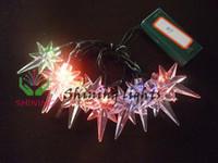 Звезда плодовых деревьев Отзывы-3V 10LED свет Polaris звезда зеленый провод Фея участник свадьбы праздничный отель строка XMAS Рождественская елка фестиваль украшения батарейный ящик работают