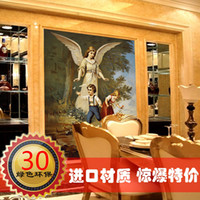 Wholesale Fashion oil painting mural wallpaper brief tv wall background wallpaper