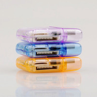 Wholesale Small transparent USB All In One SIM Card Reader amp MICRO SD MMC Rotary shaped
