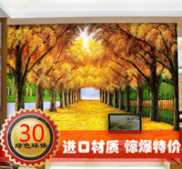 Wholesale Mural wallpaper tv sofa bedroom wall oil painting gold