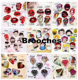 Wholesale Acrylic badge Brooches accessories Harajuku style Brooches cartoon words Pins Brooches500 styel you can choose