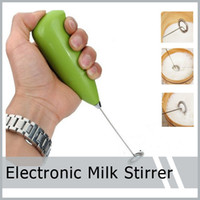 Wholesale Mini Battery Electronic Handy Whisk Coffee Milk Drink Mixer Stirrer Cappuccio New