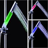 Wholesale 1 inch Translucent LED Shower Head Faucets Showers Bathroom Shower LED Faucet Light