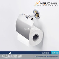 Wholesale Copper gold plated towel rack paper holder toilet paper box bathroom accessories luxurious nobility