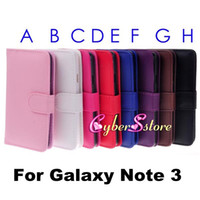 For Samsung Leather  For Galaxy Note 3,Wallet Folio Flip PU leather Case Cover With Card Slot Pouch Holder For Samsung Galaxy Note 3 III N9000