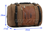 Wholesale PJ Mens Vintage Canvas backpack Rucksack laptop Shoulders bag travel Camping bag GZ378
