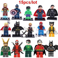 al por mayor héroes de acción-Regalos de Navidad Figuras de Super Hero Figuras Juguetes Los Vengadores Juguetes Big Hulk Aficiones Figuras de Acción Clásicas Bloques de Construcción DIY Ladrillos Minifiguras