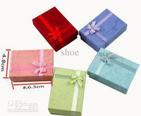 Jewelry Boxes Bracelet Valentine's Day 48pcs 5 colors square 6.5*4.8*3cm jewelry box bracelet box ring box colored optional mixed colors