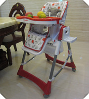 Wholesale Plastic Kids Chairs Small Folding Size Convenient to Carry Point Safety Belt Ride in Safety Lovely Cute Baby Dining Seat Chair