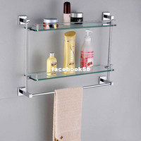 Wholesale Quartet copper towel rack cosmetic rack glass rack belt towel bar shelf towel rack