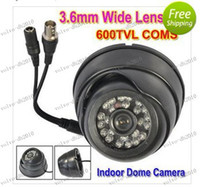 Wholesale LLFA3688 TVL Color CMOS Super Had LED CCTV Indoor Dome Camera mm Lens Width Angle