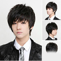 Wholesale New Fashion Man s And Neutral Short Straight Wigs NC02 Cosplay Full Wig colors salebags