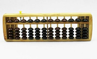 Wholesale China s intangible heritage12 files color wooden abacus beads Calculators with liquidation children s educational toys